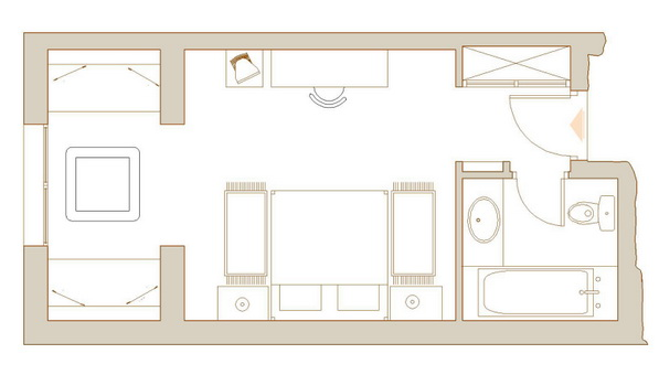 Plans chambres traditionnelles for Amenager son garage en suite parentale